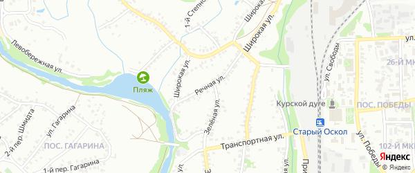Речная улица на карте Старого Оскола с номерами домов