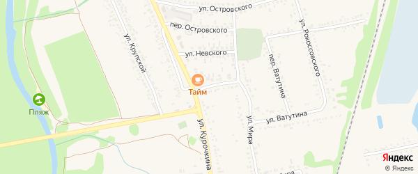 Улица Невского на карте поселка Волоконовки с номерами домов