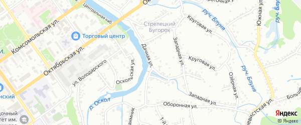 Дачная улица на карте Старого Оскола с номерами домов