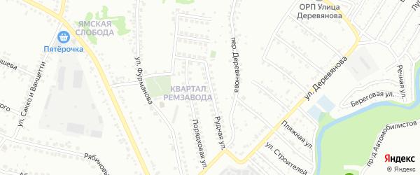 Рудная улица на карте Старого Оскола с номерами домов
