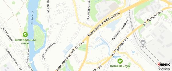 Мебельная улица на карте Старого Оскола с номерами домов