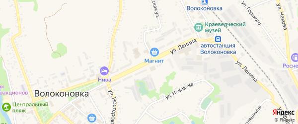 Улица Ленина на карте поселка Волоконовки с номерами домов