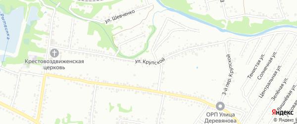 Улица Крупской на карте Старого Оскола с номерами домов
