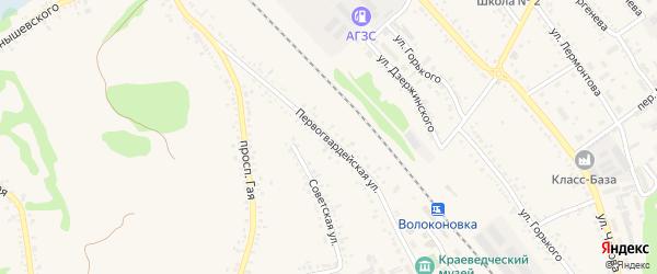 Первогвардейская улица на карте поселка Волоконовки с номерами домов