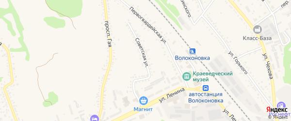 Советская улица на карте поселка Волоконовки с номерами домов