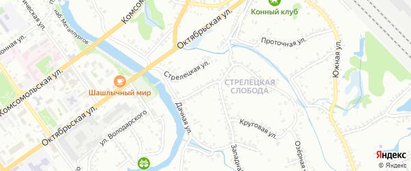 Пушкарская улица на карте Старого Оскола с номерами домов