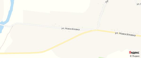 Улица Новоселовка на карте села Волоконовки с номерами домов
