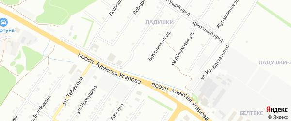 Калиновая улица на карте Старого Оскола с номерами домов