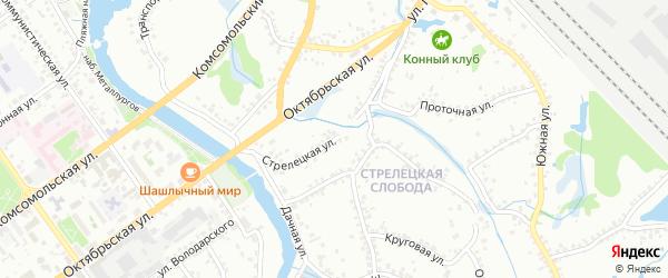 Стрелецкая улица на карте Старого Оскола с номерами домов