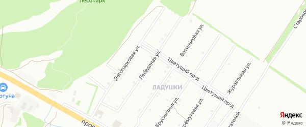 Лебединая улица на карте Старого Оскола с номерами домов