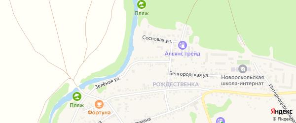 Зеленая улица на карте Нового Оскола с номерами домов
