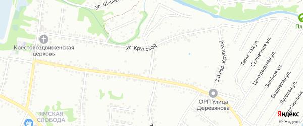 2-й Крупской переулок на карте Старого Оскола с номерами домов