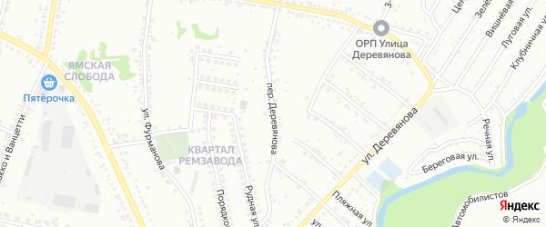Переулок Деревянова на карте Старого Оскола с номерами домов