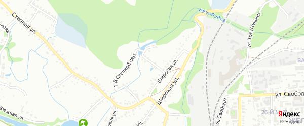 2-й Широкий переулок на карте Старого Оскола с номерами домов