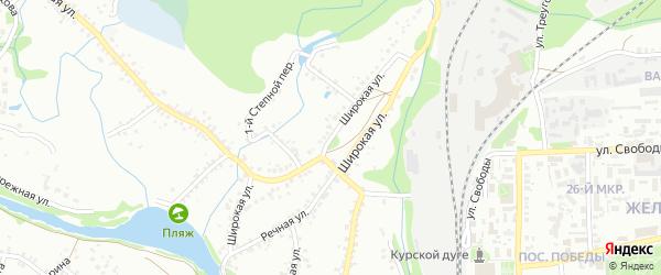 Широкая улица на карте Старого Оскола с номерами домов