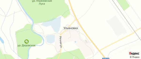 Карта хутора Ульяновки в Белгородской области с улицами и номерами домов
