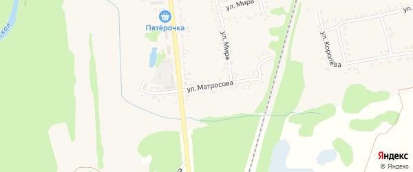 Улица Матросова на карте поселка Волоконовки с номерами домов
