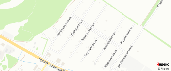 Васильковая улица на карте Старого Оскола с номерами домов