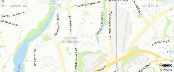 Кооперативный переулок на карте Старого Оскола с номерами домов