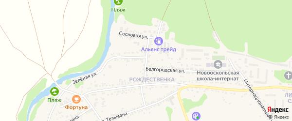 Улица А.Невского на карте Нового Оскола с номерами домов