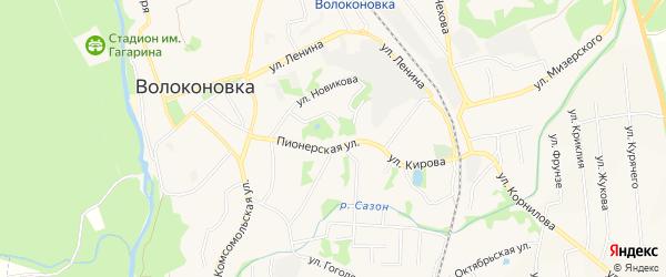 Карта поселка Волоконовки в Белгородской области с улицами и номерами домов