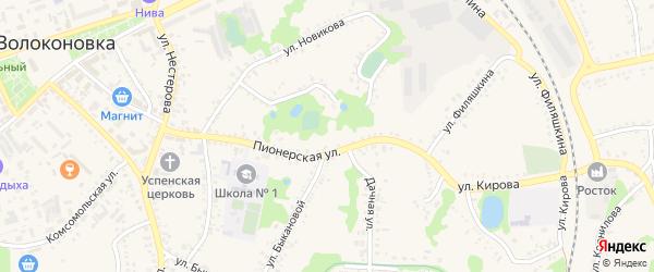 Парковая улица на карте поселка Волоконовки с номерами домов