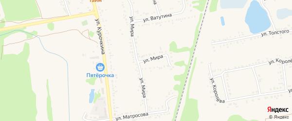 Улица Мира на карте поселка Волоконовки с номерами домов