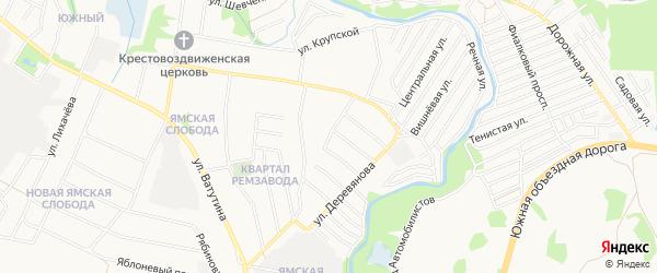 СТ Коммунальщик-2 на карте Старого Оскола с номерами домов
