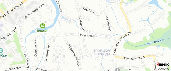 Оборонная улица на карте Старого Оскола с номерами домов