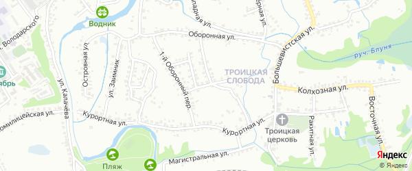 4-й Оборонный переулок на карте Старого Оскола с номерами домов