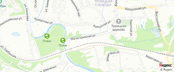 Магистральная улица на карте Старого Оскола с номерами домов