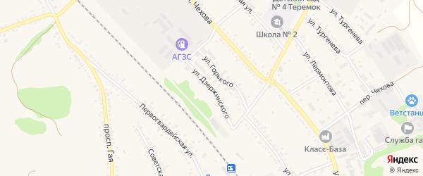 Улица Дзержинского на карте поселка Волоконовки с номерами домов
