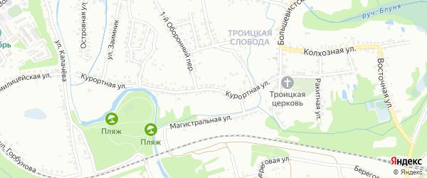 Курортная улица на карте Старого Оскола с номерами домов