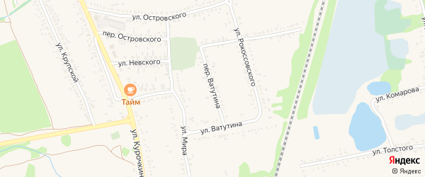 Переулок Ватутина на карте поселка Волоконовки с номерами домов