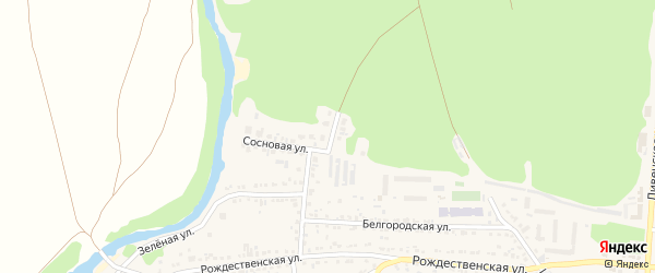 Сосновый переулок на карте Нового Оскола с номерами домов