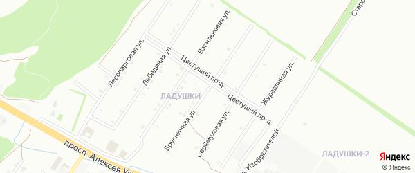 Брусничная улица на карте Старого Оскола с номерами домов