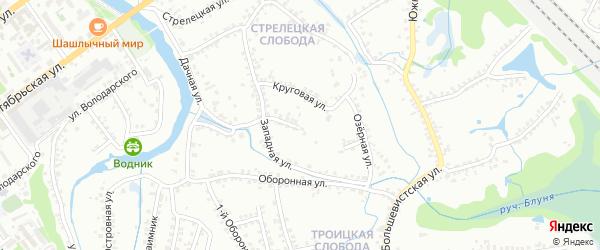 Западная улица на карте Старого Оскола с номерами домов