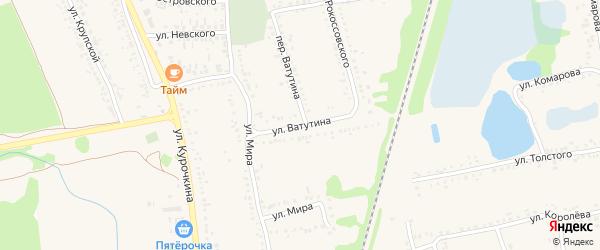 Улица Ватутина на карте поселка Волоконовки с номерами домов