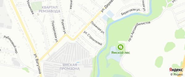 Улица Строителей на карте Старого Оскола с номерами домов
