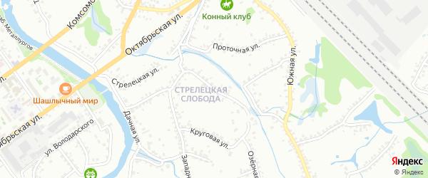 Круговая улица на карте Старого Оскола с номерами домов