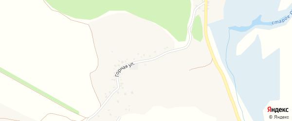 Горная улица на карте Нижнеатаманского села с номерами домов