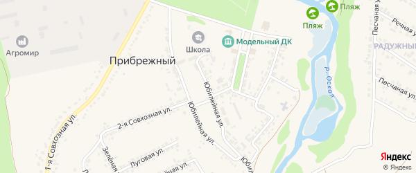 Юбилейная улица на карте Прибрежного поселка с номерами домов