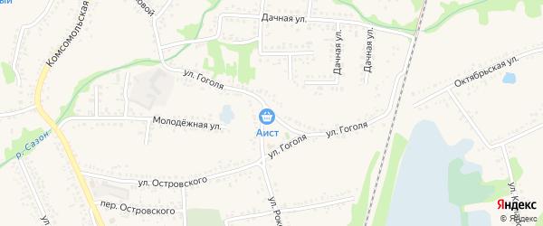 Улица Гоголя на карте поселка Волоконовки с номерами домов