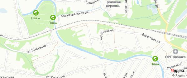 Береговой переулок на карте Старого Оскола с номерами домов