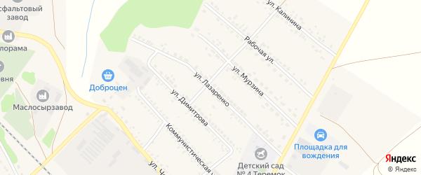 Улица Лазаренко на карте поселка Волоконовки с номерами домов