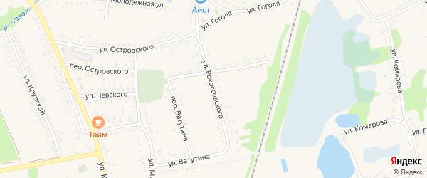 Улица Рокоссовского на карте поселка Волоконовки с номерами домов