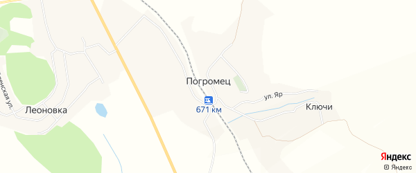 Карта хутора Погромца в Белгородской области с улицами и номерами домов