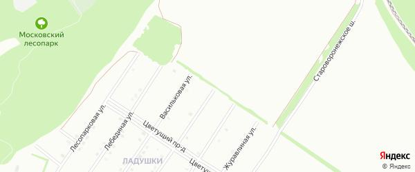 Приветливая улица на карте Старого Оскола с номерами домов