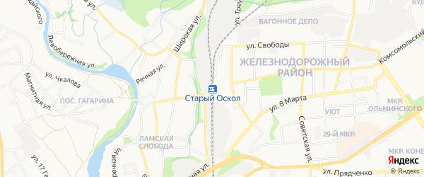 СТ 60 лет Октября на карте Старого Оскола с номерами домов