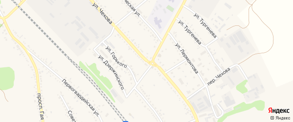Улица Чехова на карте поселка Волоконовки с номерами домов